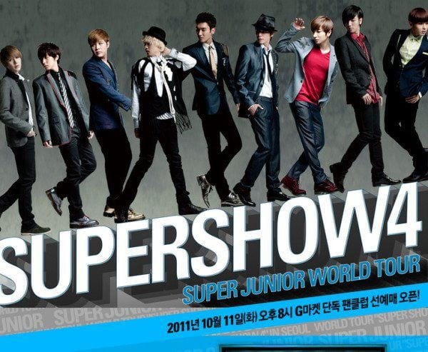 Promotional Poster for Super Show 4 by SM Entertainment