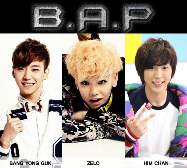 New kpop boy band B.A.P