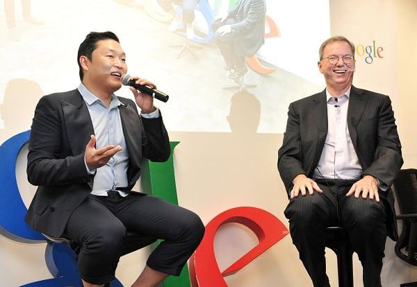 Psy meets Google's Eric Schmidt