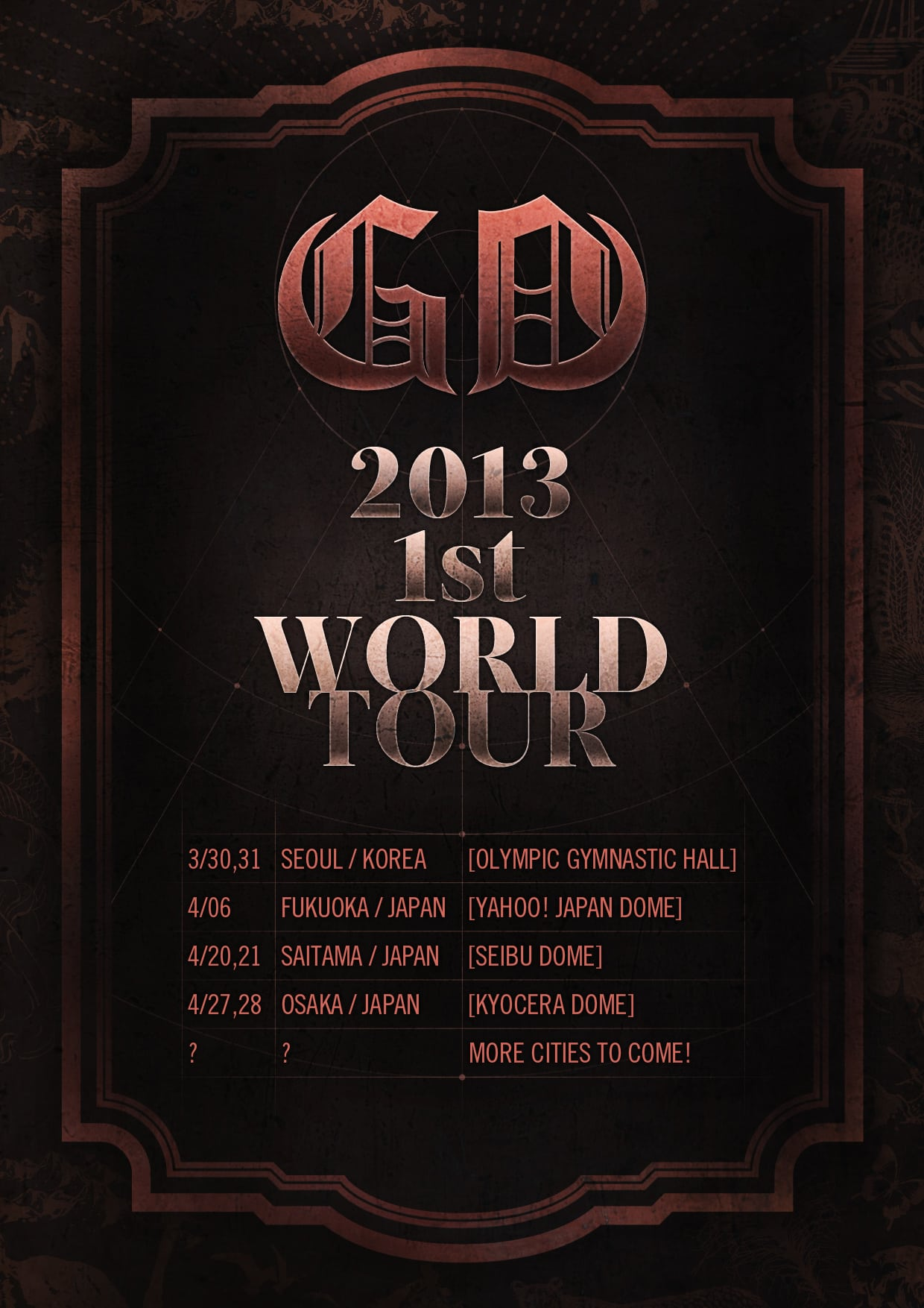 G-Dragon First World Tour 2013