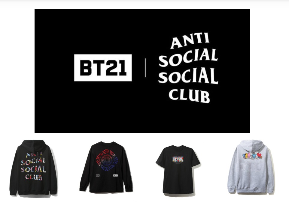 1b0042113e5cd LINE FRIENDS BT21 Collabs with Anti Social Social Club for New Collection -  K-Pop Concerts