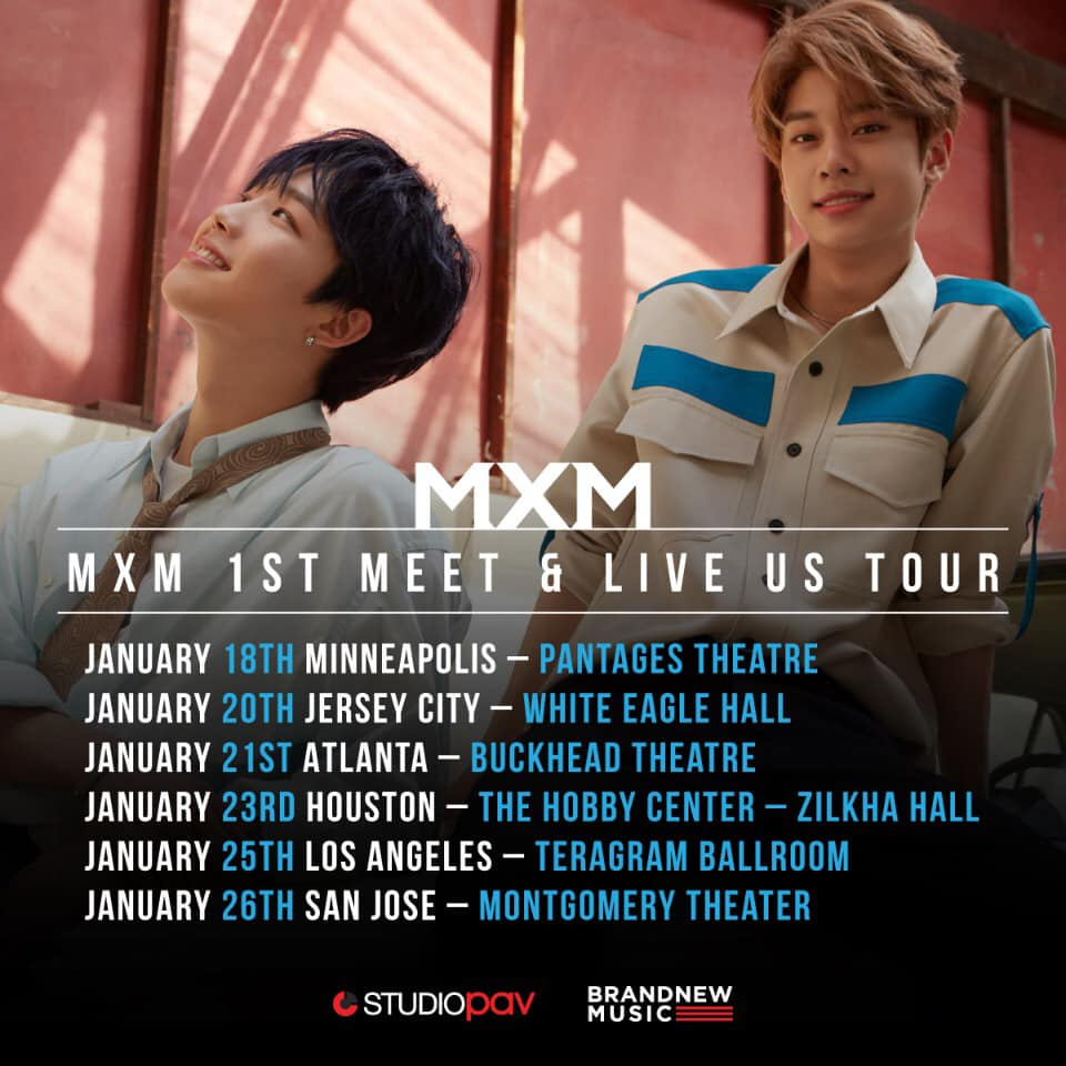MXM Announces '1st Meet & Live' US Tour - K-Pop Concerts