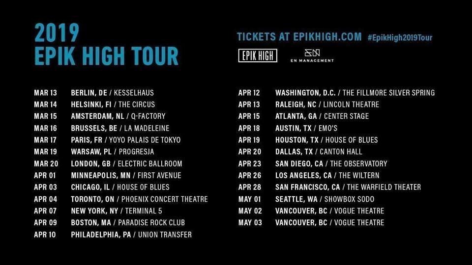 EPIK-HIGH-TOUR-2019 - K-Pop Concerts