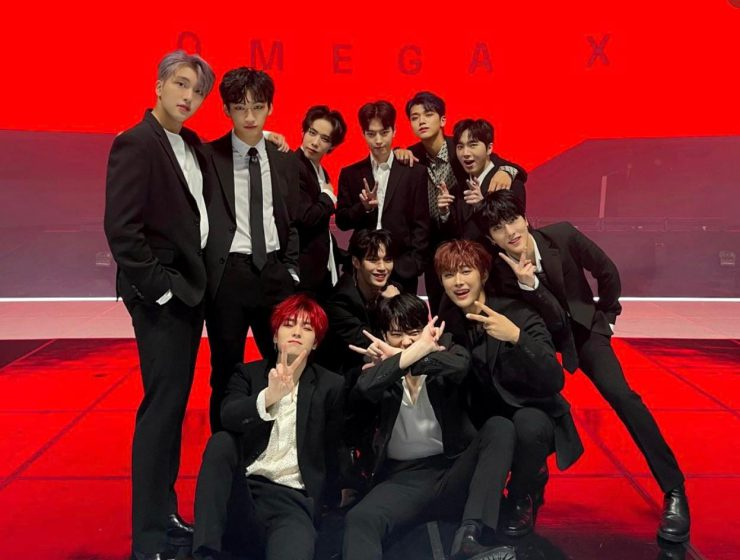 Group photo of K-pop rookie group OMEGA X
