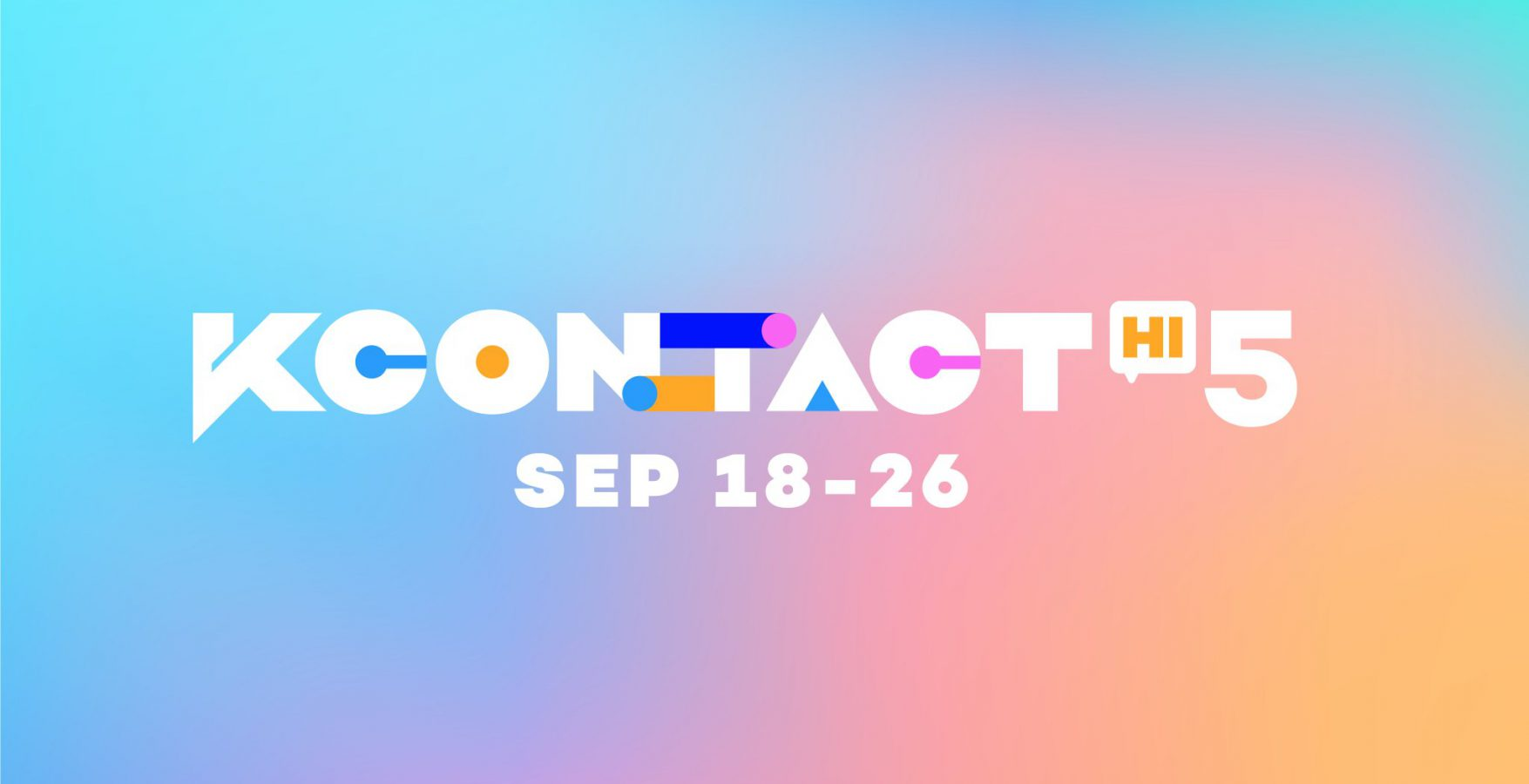 Photo of KCON:TACT HI 5 taking place from September 18 to September 26
