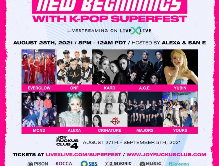 Joy Ruckus Club 4 New Beginnings With K-Pop SuperFest Day 2 featuring Majors, Yours, Cignature, AleXa, MCND, A.C.E, Yubin, EVERGLOW, KARD, and ONF.
