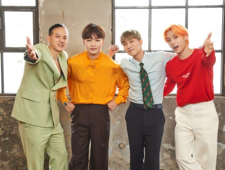 BTOB members Peniel, Changsub, Eunkwang, and Minhyuk