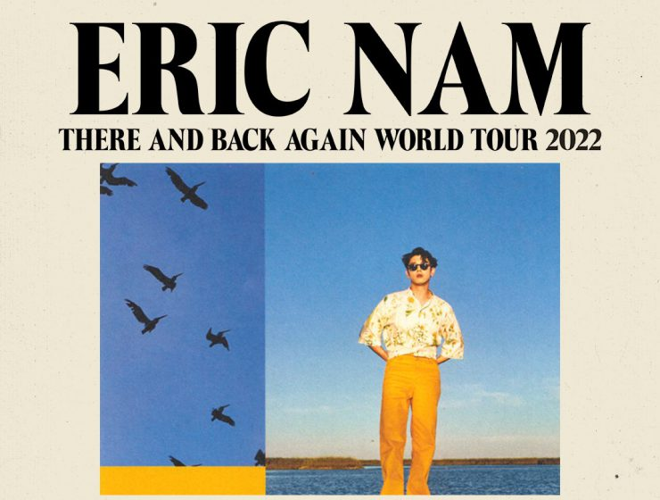 Eric Nam 'There and Back Again' Tour world tour poster